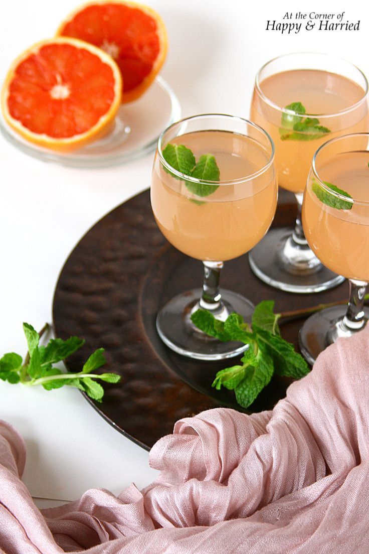 Grapefruit Juice With Ginger Simple Syrup -    GRAPEFRUITADE - Grapefruit Juice With Ginger & Carda