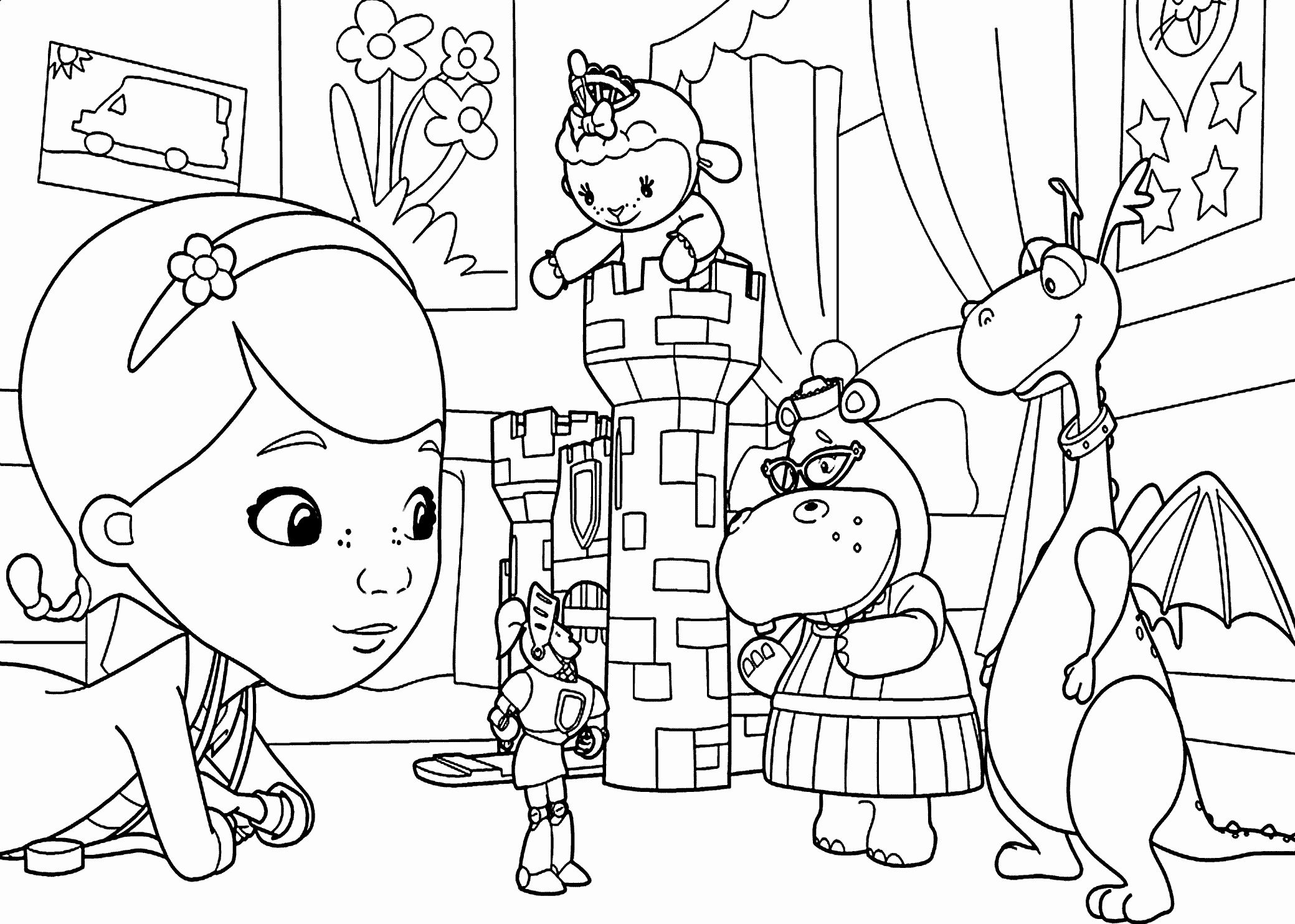 Hair Coloring Activities Luxury Doc Mcstuffins Theater