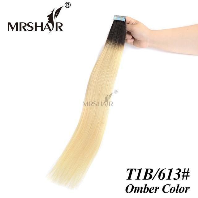 Mrshair T1b613 Ombre Hair Tape In Hair Extensions 20pcs Non Remy