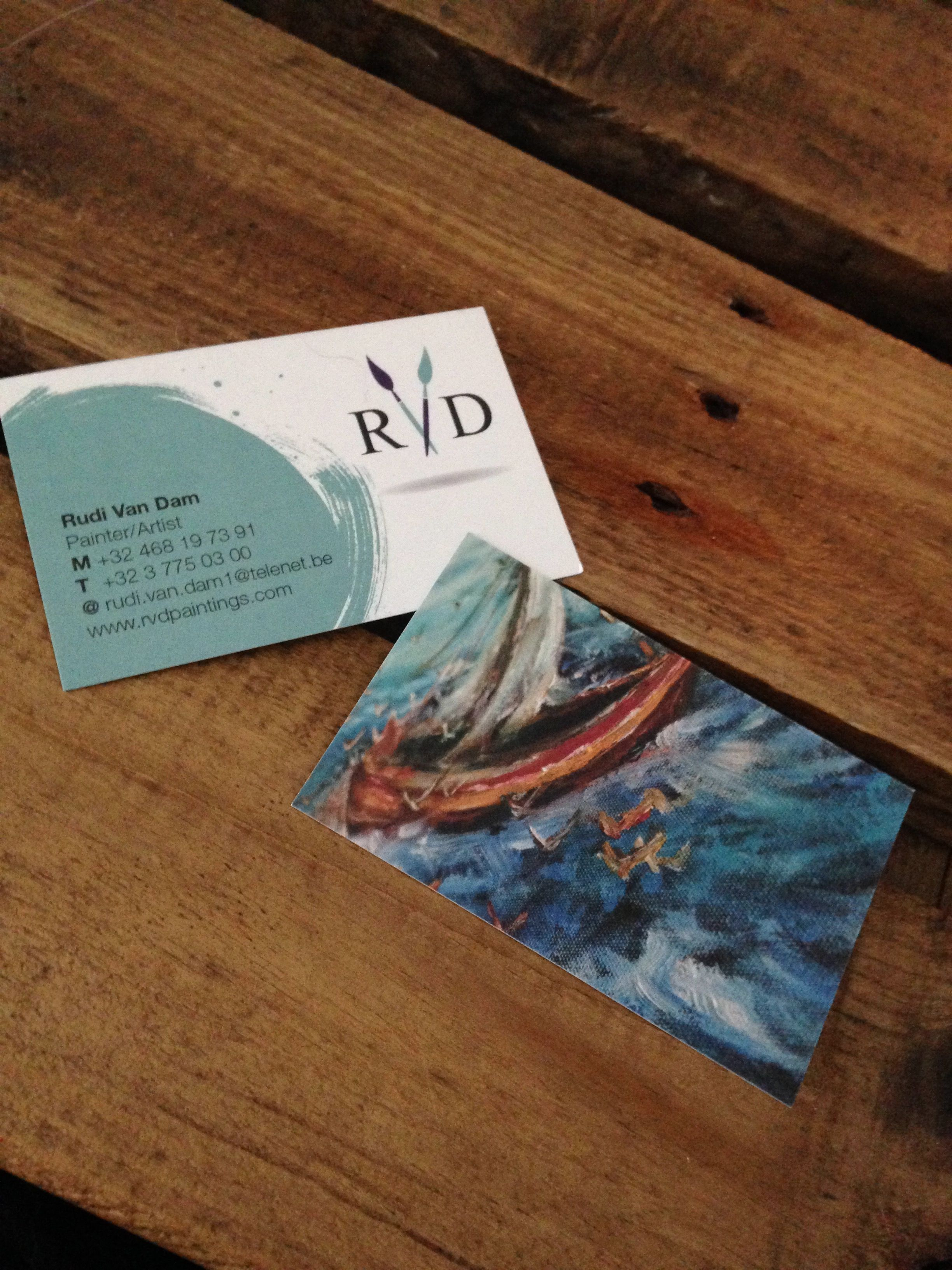 Business cards for Belgian artist/painter Rudi Van Dam - www ...