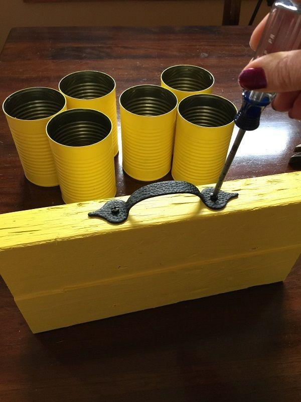 #DIY Tin Can Utensil Holder – Karen Ehman #tincans