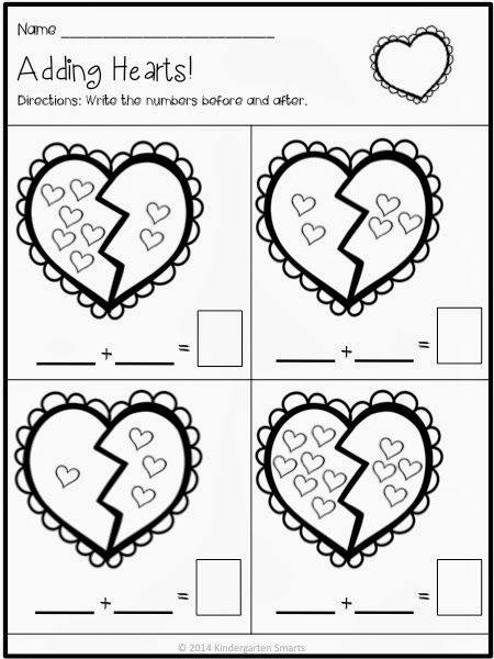 Valentines Day Math And Literacy Centers With Printable Worksheets