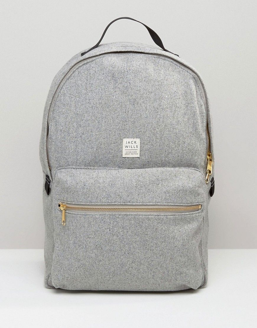 Image 1 of Jack Wills Backpack In Grey Wool | Purses