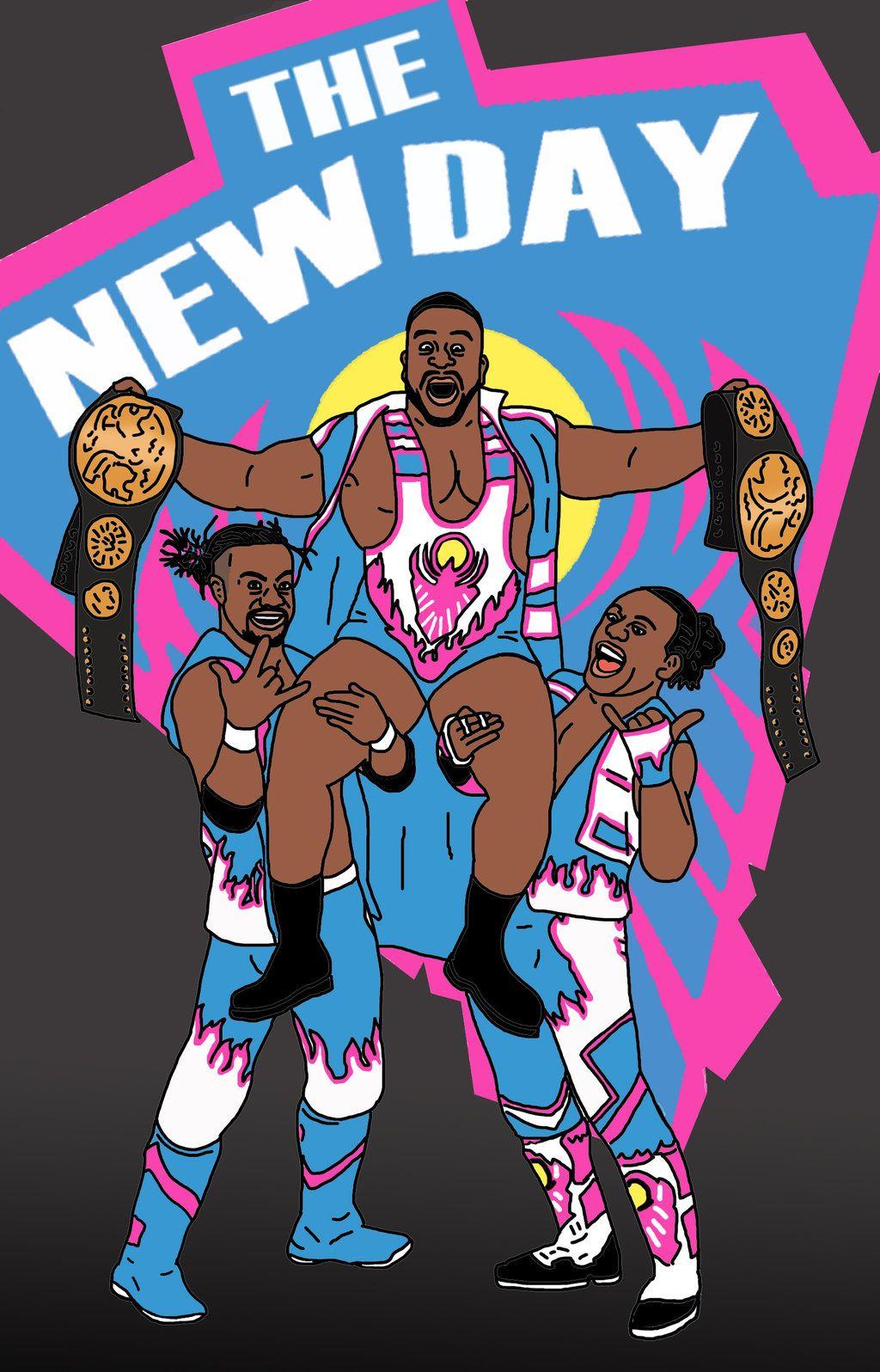 Wrestling Room Design: Wwe New Day Poster
