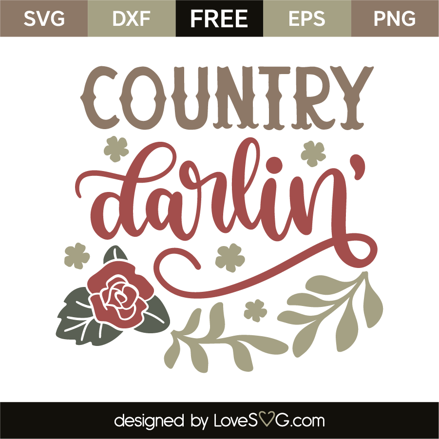 Download Country darlin' | Silhouette free, Quote stencils, Free ...