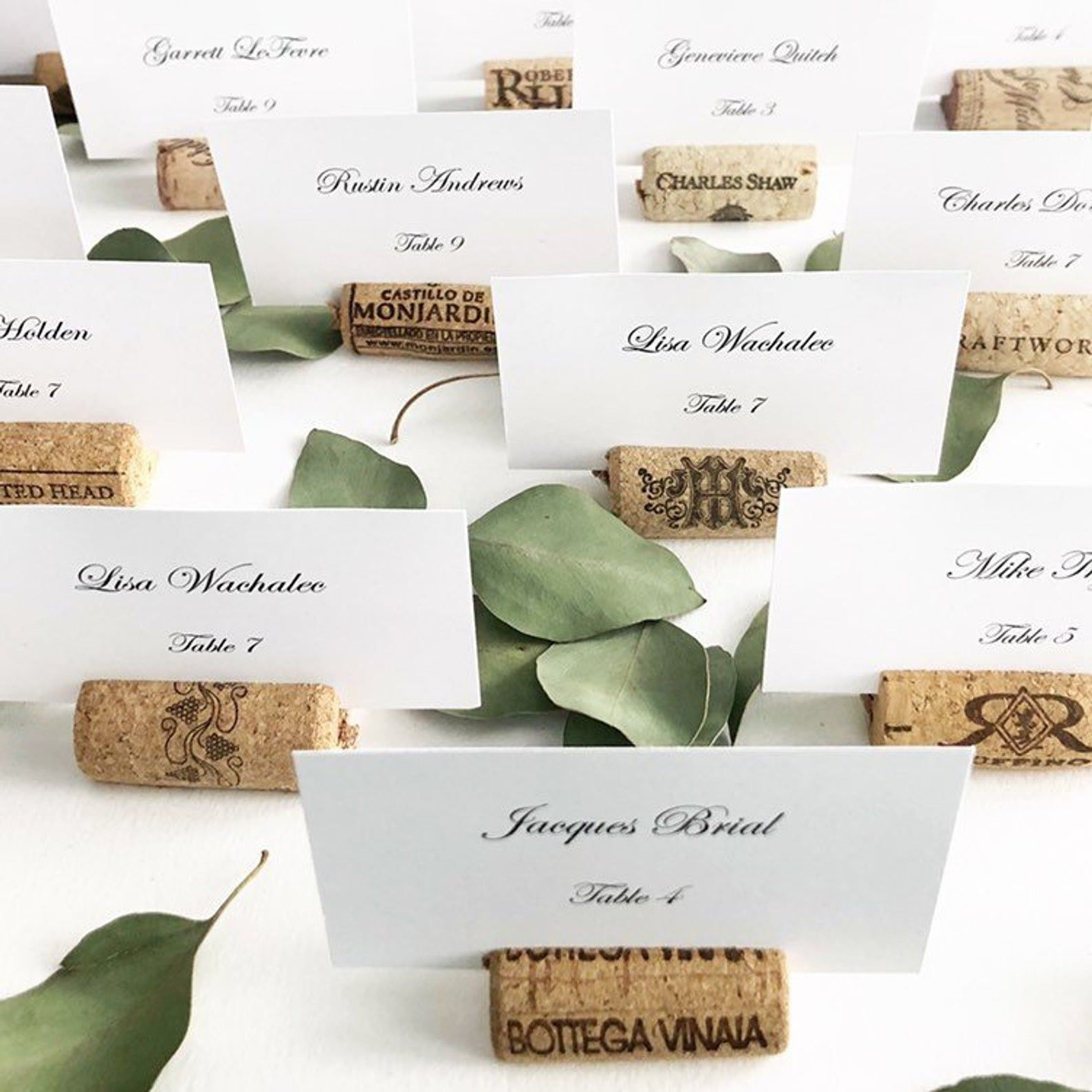 Real Weddings Cork: Wine Cork Place Card Holders, Variety From Real Recycled