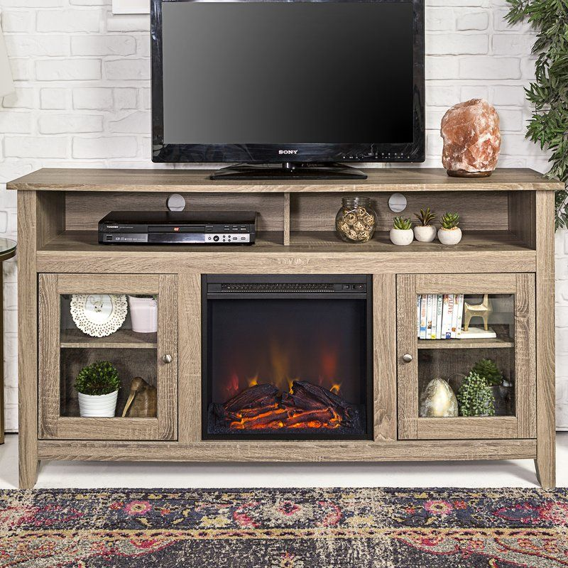 Kohn Tv Stand For Tvs Up To 65 With Fireplace Included Fireplace Entertainment Fireplace Tv Stand Fireplace Entertainment Center 65 inch tv stand with electric fireplace