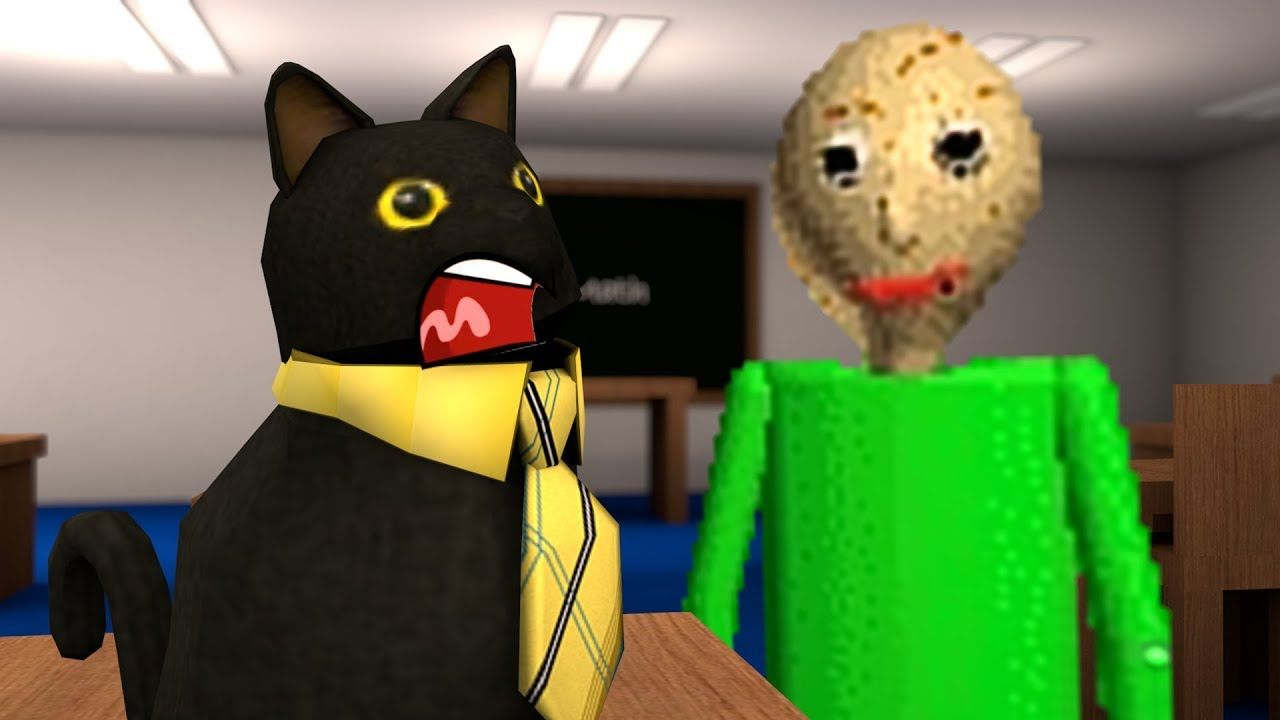 Roblox Animation - SIR MEOWS A LOT IS TRAPPED IN BALDI'S