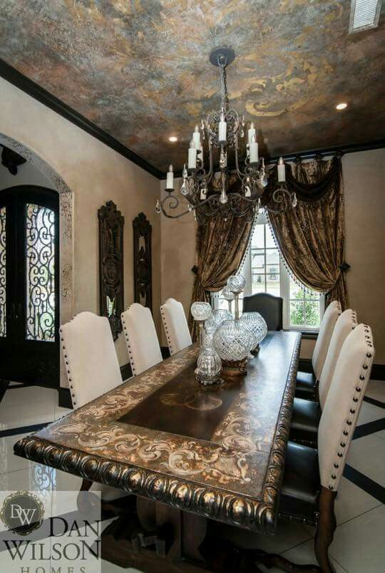 Genial Tuscan Old World Dining Room