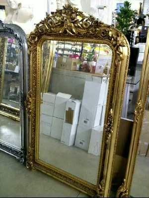 miroir biseaute baroque dore 158 x 90