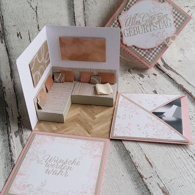 explosionsbox als verpackung f r einen whitewall gutschein stampinup stampinupdeutschland. Black Bedroom Furniture Sets. Home Design Ideas