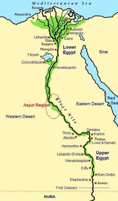 Asyut Region Of Ancient Egypt History Egypt Map Nile River Egypt