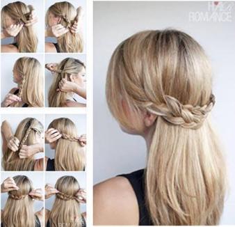 U2022Tutoriel coiffure | Coiffures | Pinterest | Tuto coiffure Coiffures et Tresses de cheveux