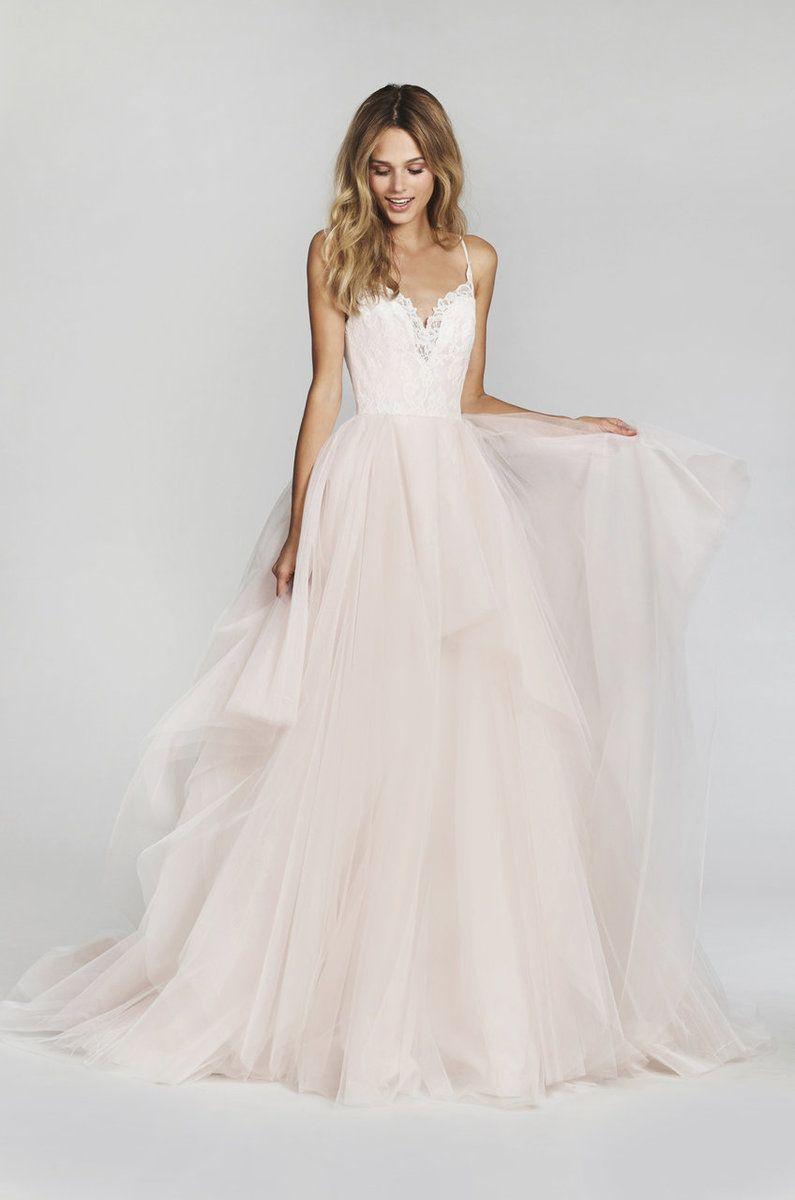 Beste Blush By Hayley Paige Wedding Dress Lilou - Mooie trouwjurken RN-51