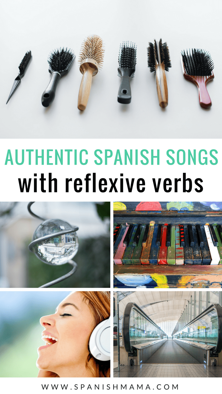 The Best Authentic Spanish Songs With Reflexive Verbs Spanish Songs Reflexive Verbs Learning Spanish [ 1302 x 735 Pixel ]