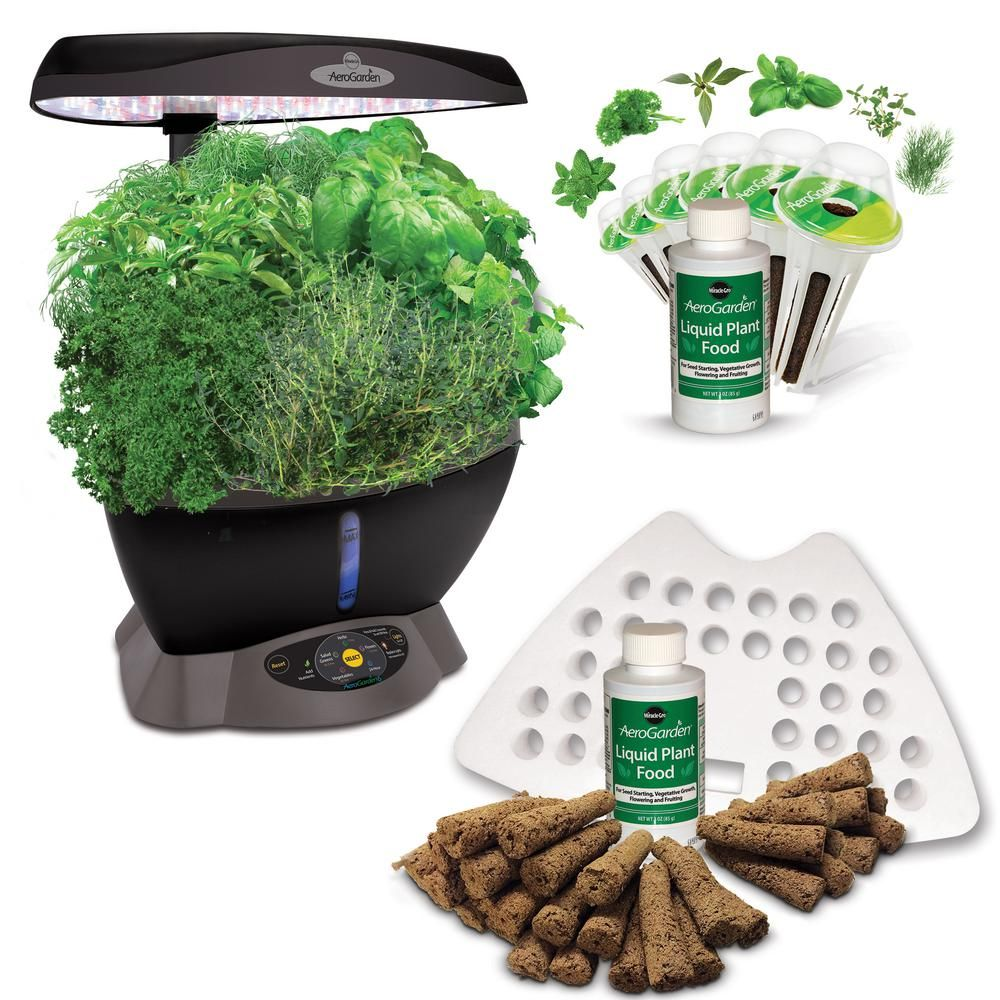 Aerogarden Classic 6 With 6 Pod Gourmet Herbs Seed Kit And 640 x 480