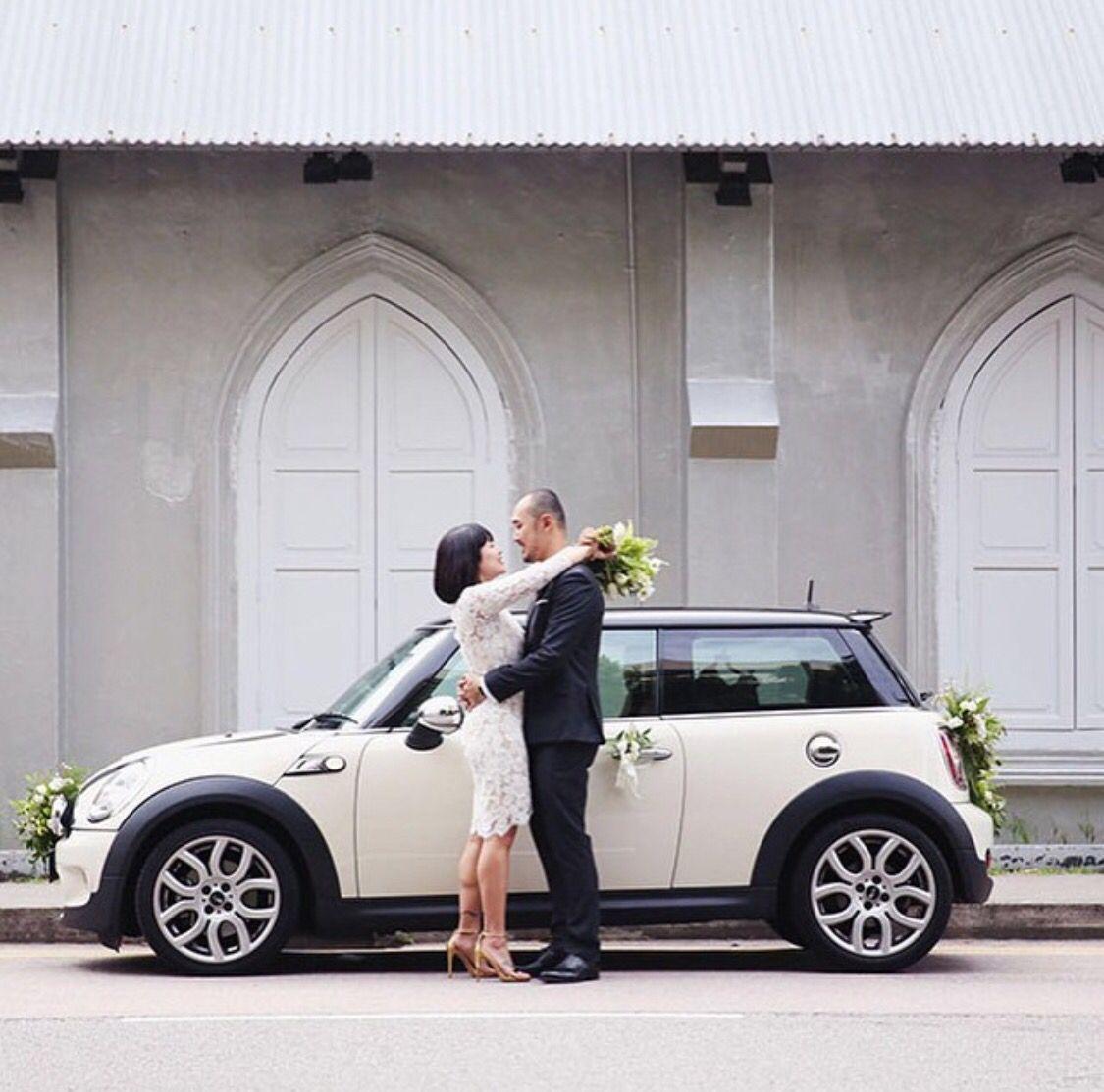 Mini Cooper Wedding Car Wedding Car Bridal Car Car Decor