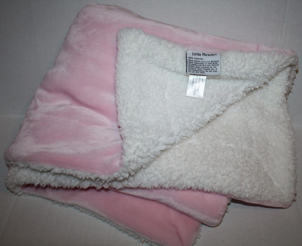 Costco Throw Blanket Unique Costco Little Miracles Pink White Cream Ivory Sherpa Girls Soft Baby Inspiration Design