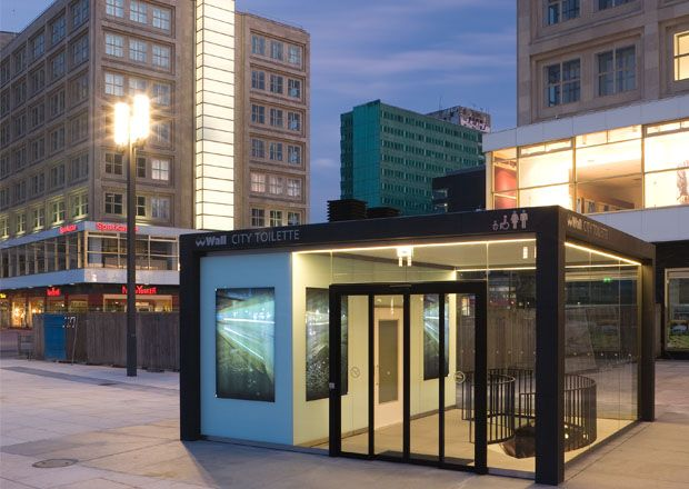 public toilet at alexanderplatz berlin germany. Black Bedroom Furniture Sets. Home Design Ideas