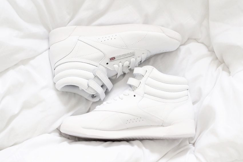 Reebok Classic Freestyle Hi Reebok Classic White Reebok White Sneakers