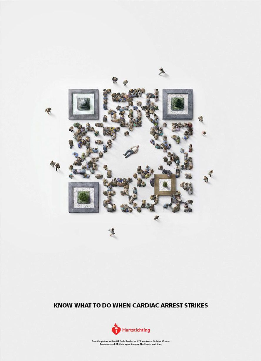 Heart association qr code comes to life for cpr advertising heart association qr code comes to life for cpr sciox Choice Image