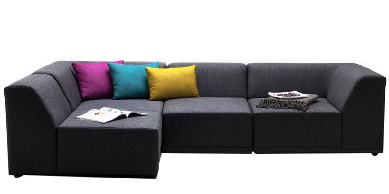 alia modular sofa sectional 2 corner 1 1 seater in black colour