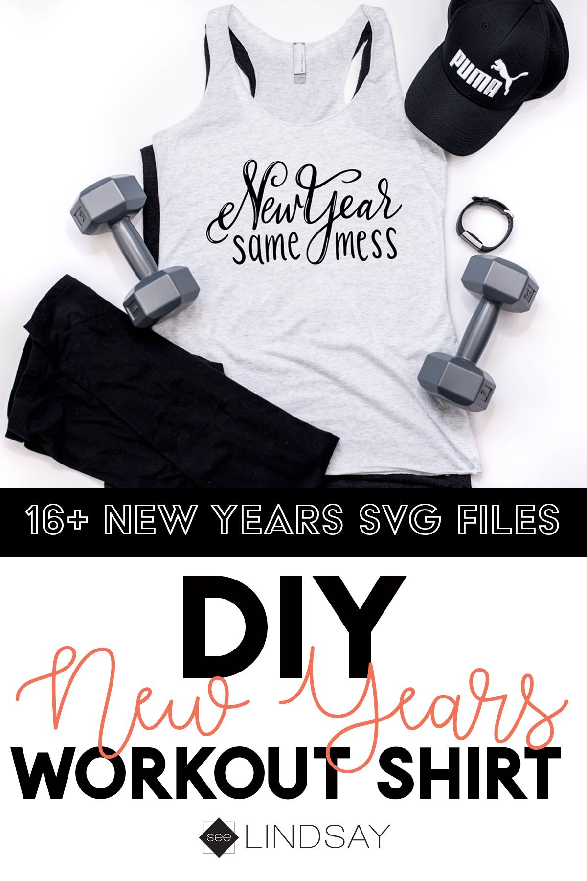 Number one hot mess express is here! Use this free SVG file with your Cricut or Silhouette and make this totally honest New Years shirt for workouts or just your standard homemade t-shirt for lazy days. #cricutmade #freesvg #cricut #silhouette #newyearsoutfit #workoutshirt #silhouetteamerica #silhouettecameo #cricutmaker #cricutexplore