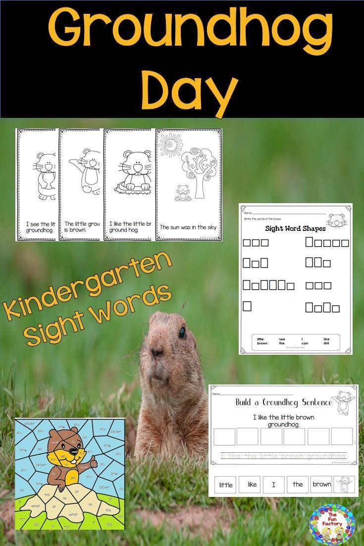 Groundhog Day Activities With Sight Words ~ Kindergarten | Sentence ...