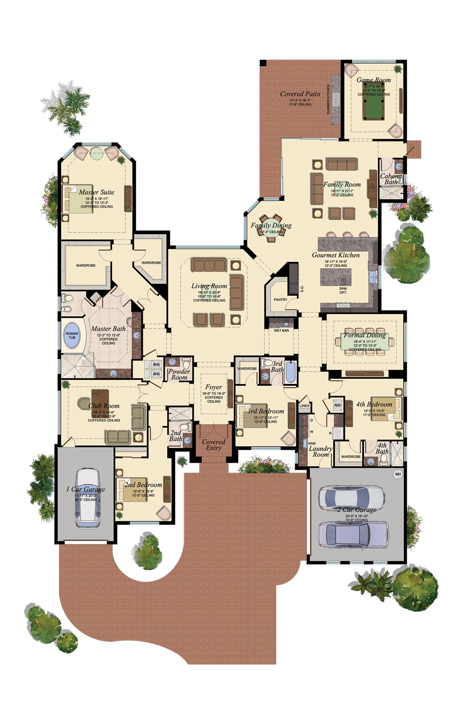 Floorplan Just Make The Club Room Into An Office Floor Plans Dream House Plans House Layouts