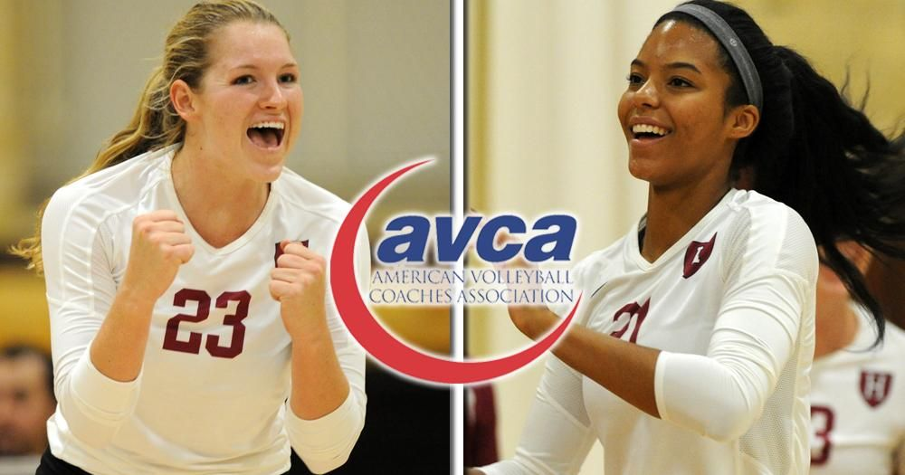 Bain Cornelius Receive Avca All Region Honors Female Volleyball Players Professional Volleyball Players Volleyball News