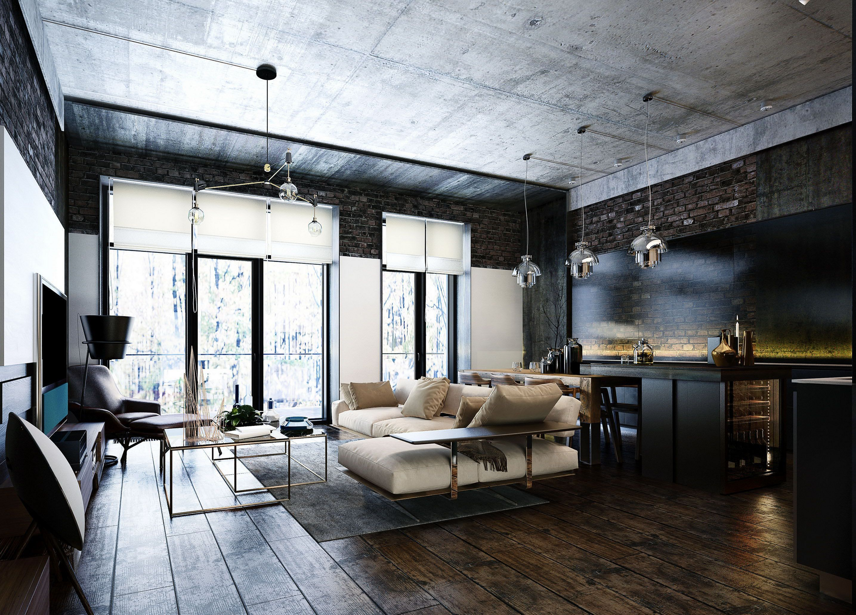 20 Most Popular Industrial Home Apartment Design For Inspiration