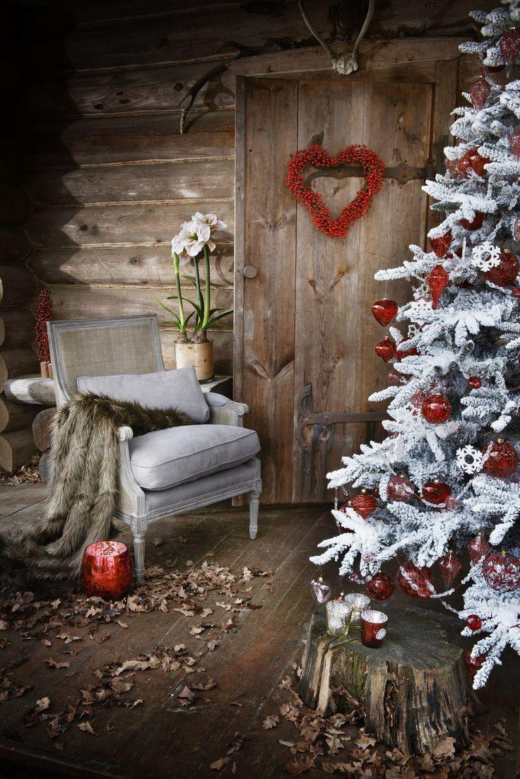 navidad rustica red christmas encontrado en