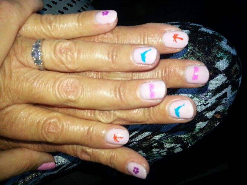 Fun holiday nails: gellux | Gellux gel polish creations | Pinterest