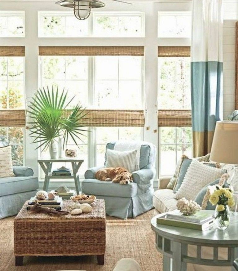 75 Warm Coastal Living Room Decorating Ideas Page 2 Of 79