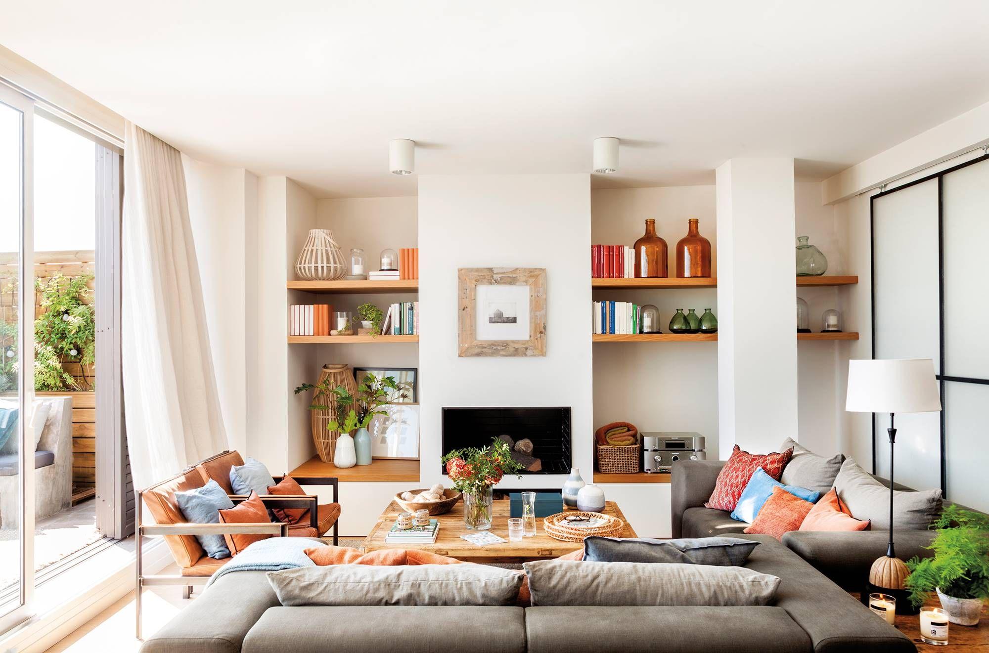Asi Quedaria Un Salon Cuadrado Y En Orden Salones Pequenos Decorar Living Comedor Salon Moderno