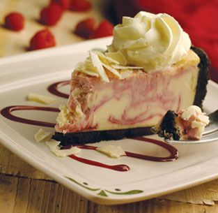 Olive Garden's White Chocolate Rasberry Cheesecake wonder if it is as good as the one from olive garden #whitechocolateraspberrycheesecake