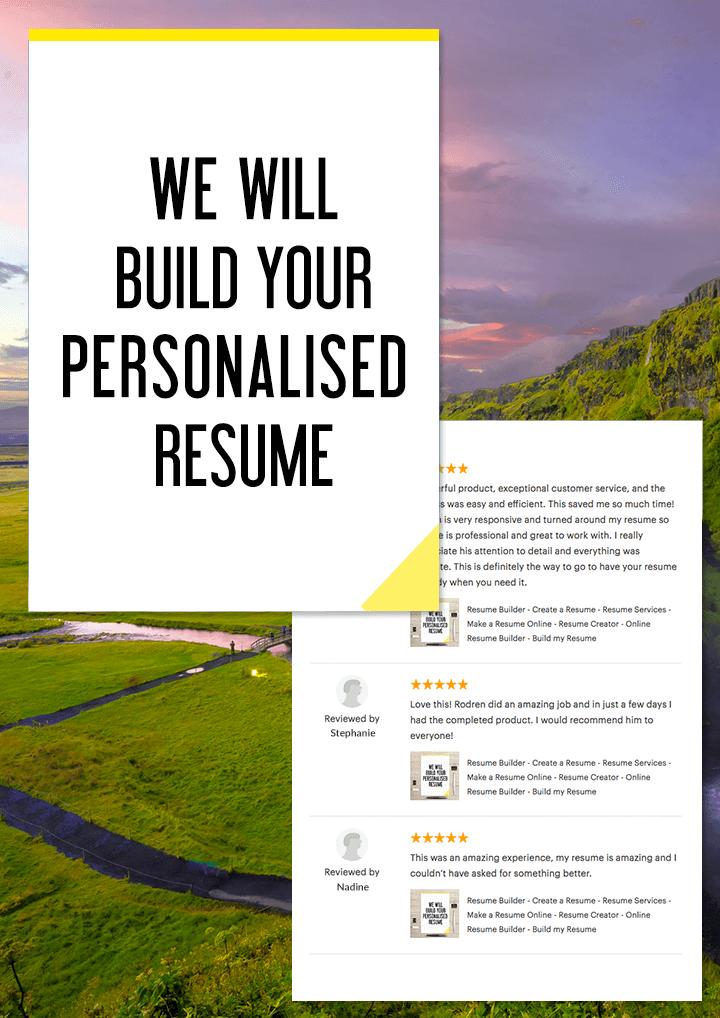Resume Builder Create A Resume Resume Services Make A Resume Online Resume Creator Online Resume Builder Build My Resume How To Make Resume Resume Builder Personal Resume