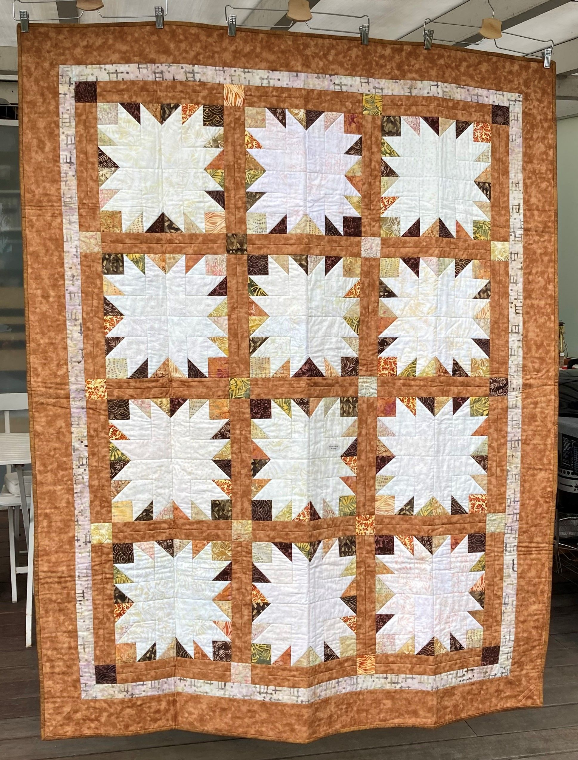 Lovely September Bliss Batik Quilt In Autumn Colors Size 54 68 Inch 137 173 Cm In 2020 Batik Quilts Quilts For Sale Quilts