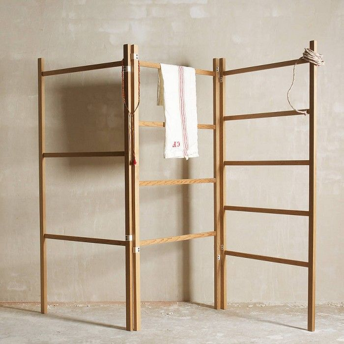 Objects Of Design 179 Folding Wooden Clothes Horse Mad About The House Clothes Drying Racks Laundry Rack Wooden Clothes Drying Rack