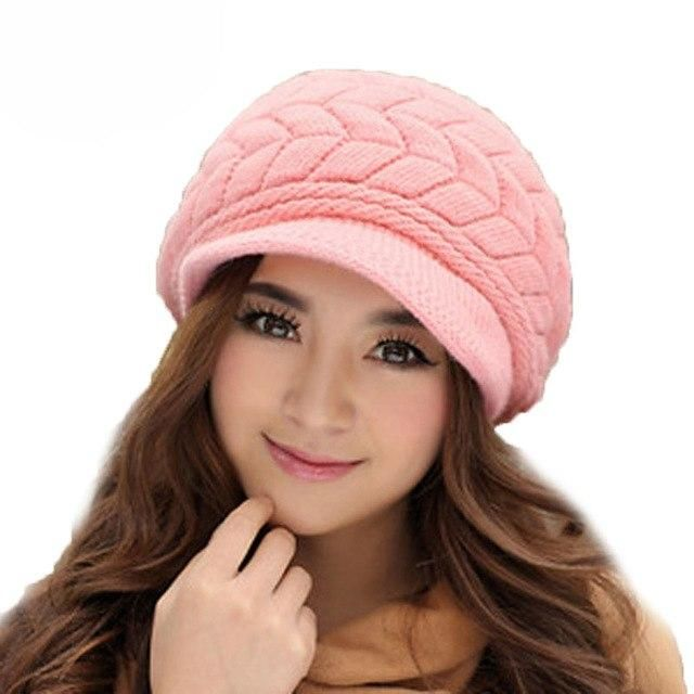 ed598d3dc8c Fall Winter Beanies Knitted Hats Rabbit Fur Cap 8 Colors Snapback Cap  Ladies Female Fashion Skullies Elegant Women Hats