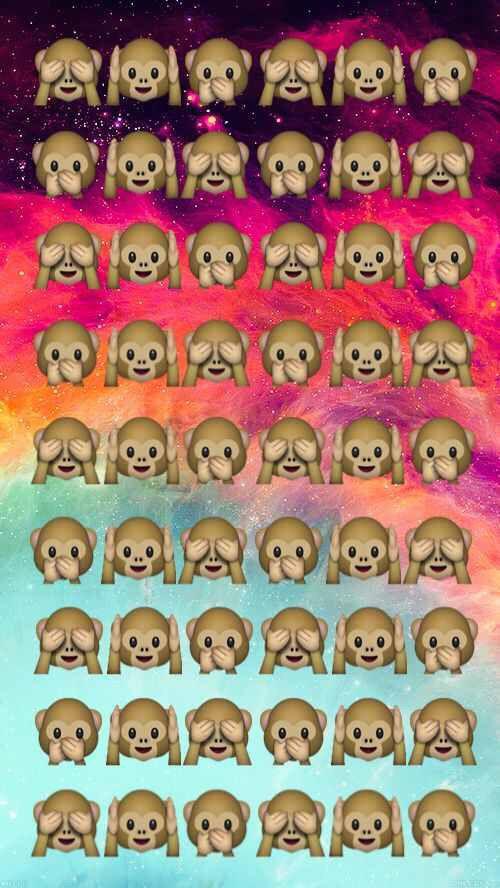 Tumblr Monkey Emoji Background Emojis De Wpp Fondos Para