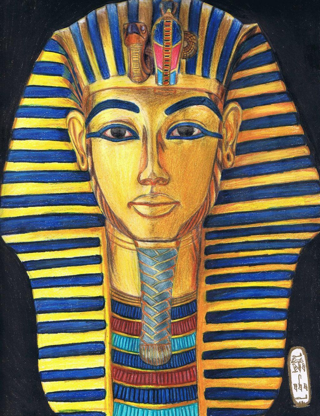 The Gold Mask Of Tutankhamun By Myworld1viantart On