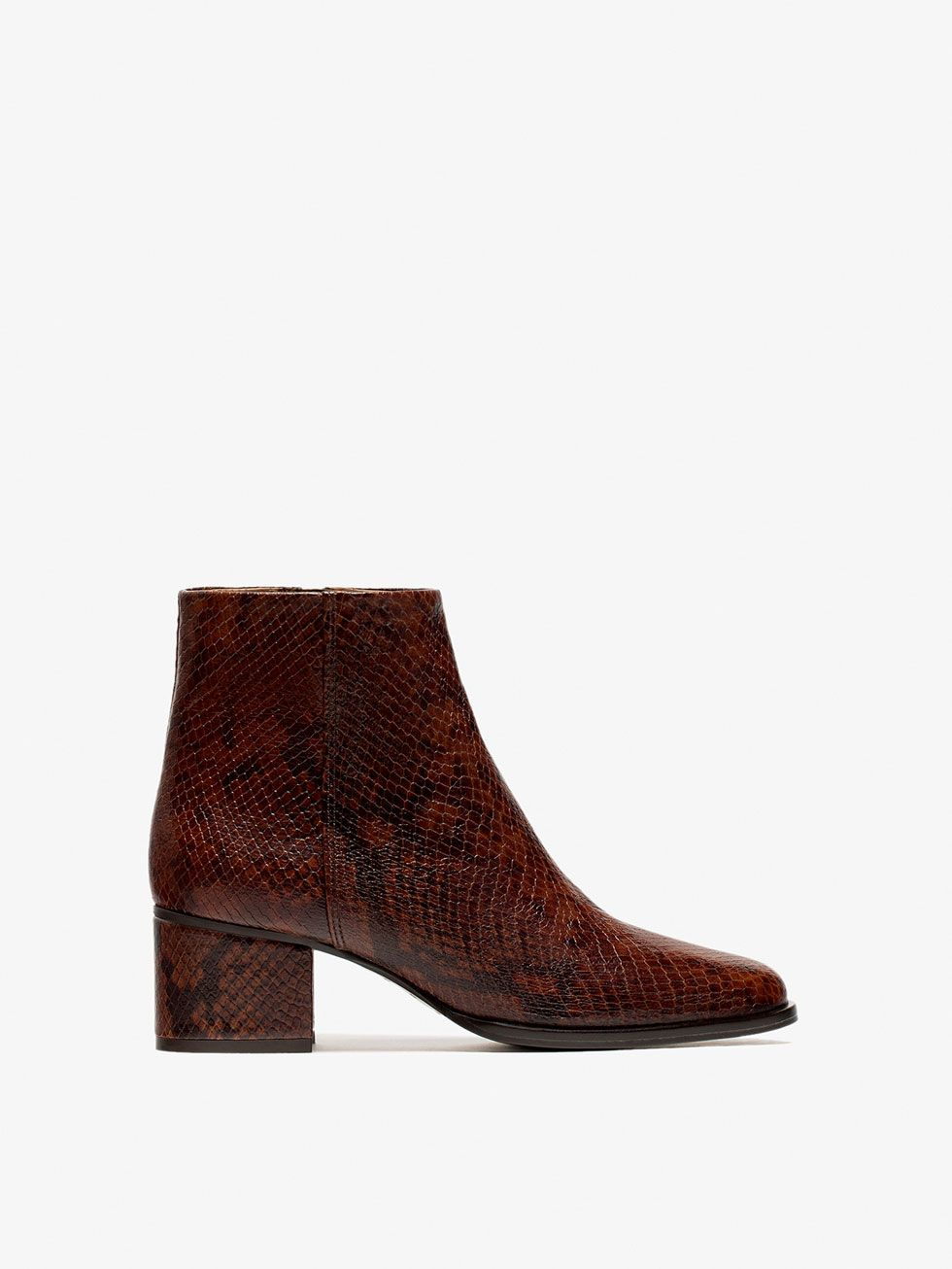 49ec2d99fd96 Autumn winter 2016 WOMEN´s ANIMAL PRINT ANKLE BOOTS at Massimo Dutti for  139. Effortless elegance!