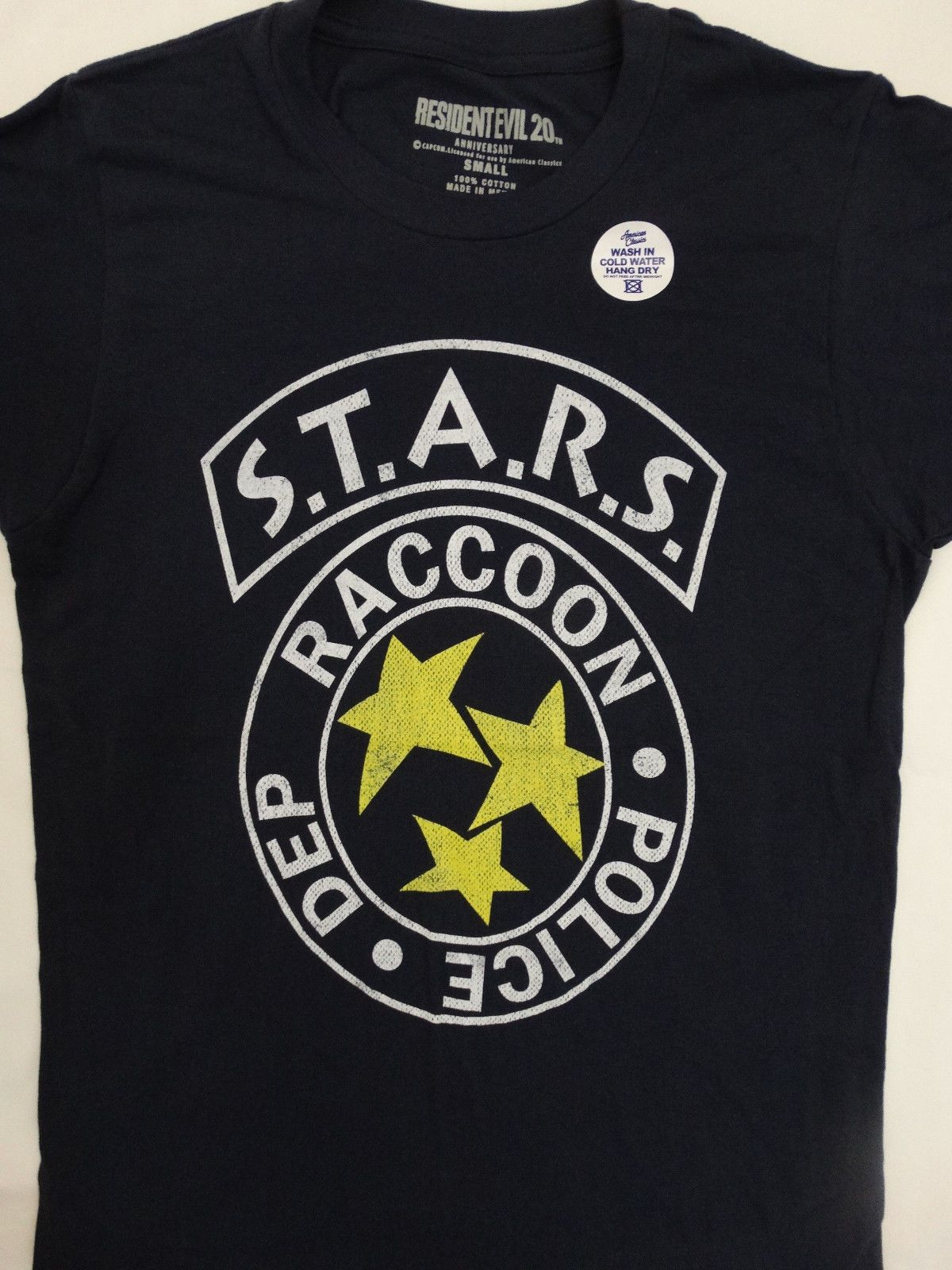 Details About Resident Evil Raccoon Police Department Stars 20th Anniversary Navy Blue T Shirt Navy Blue T Shirt Nerdy Outfits Resident Evil