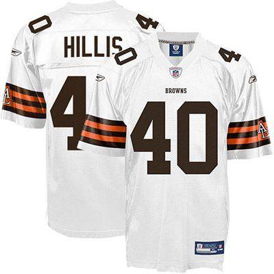 e14220c2160 Reebok Peyton Hillis Cleveland Browns Replica Jersey - White ...