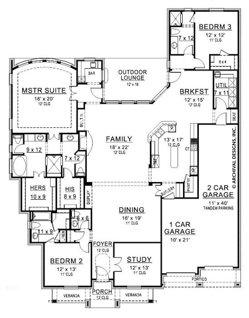 Ceto Medio House Plan Floor Plans Ranch House Plans Luxury House