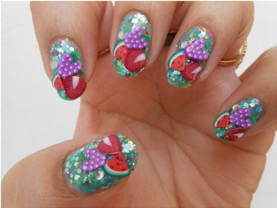 Nails Designs Fruit Design Fruit Nail Designs And Diva Nails