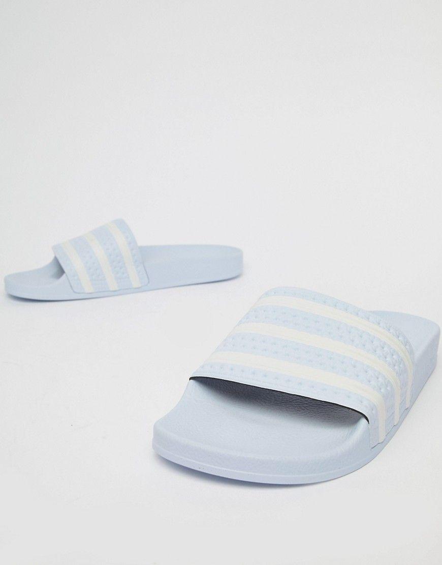 b9dd14842c46 ADIDAS ORIGINALS ADILETTE SLIDERS IN BLUE B41546 - BLUE.  adidasoriginals   shoes