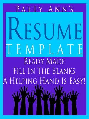 This resume is fully formatted u003e Just fill out and your resume is - how to fill out a resume