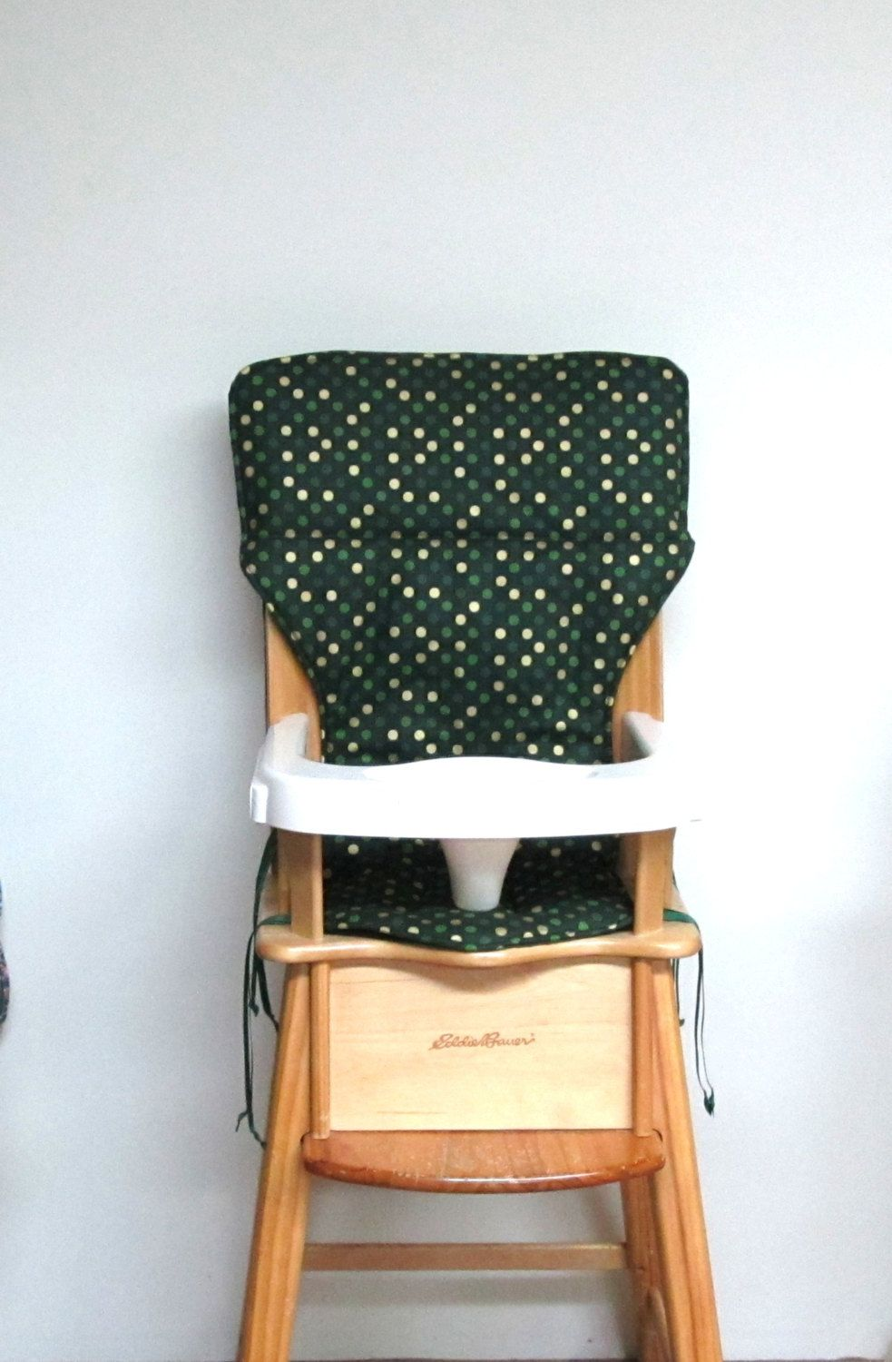 Jenny Lind High Chair Pad Replacement Baby Accessory Ed Bauer Nursery Decor Feeding Green With Gold Metallic Dots By